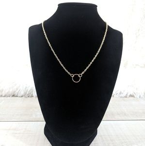 Circle Infinity Pendant Necklace
